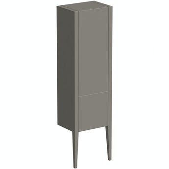 Mode Hale grey-stone matte wall hung cabinet 1500 x 420mm