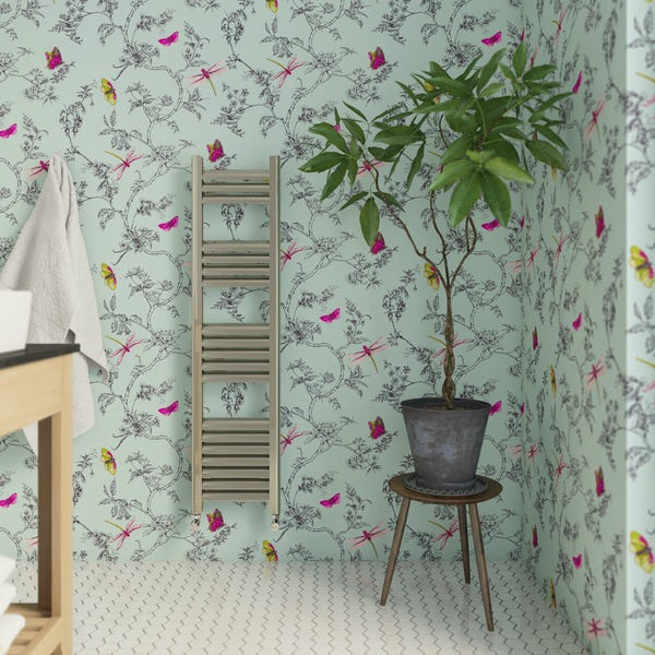 Graham & Brown Nature trail duck egg blue wallpaper