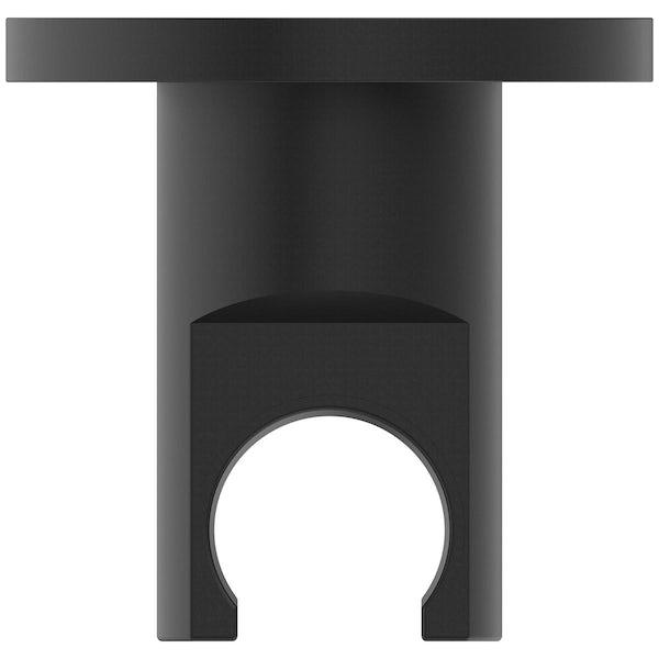 Ideal Standard Idealrain silk black round shower handset bracket