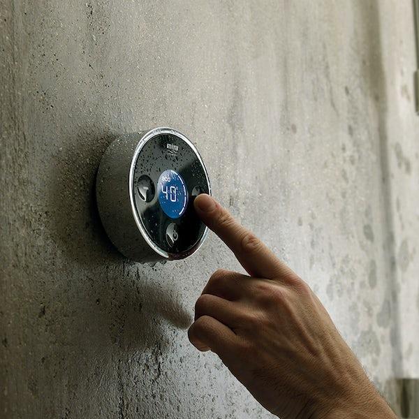 Mira Platinum ceiling fed digital shower pumped
