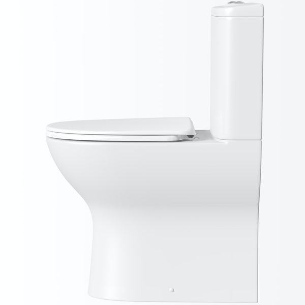 Mode Heath comfort height close coupled toilet with soft close toilet seat