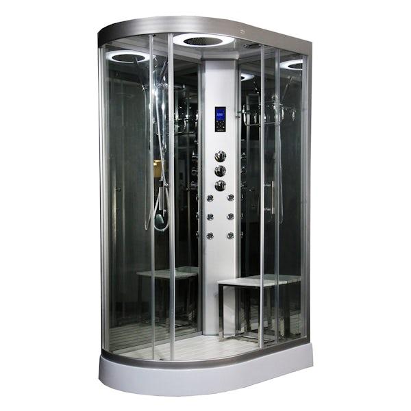 Insignia right handed offset quadrant hyrdo-massage shower cabin 1200 x 800