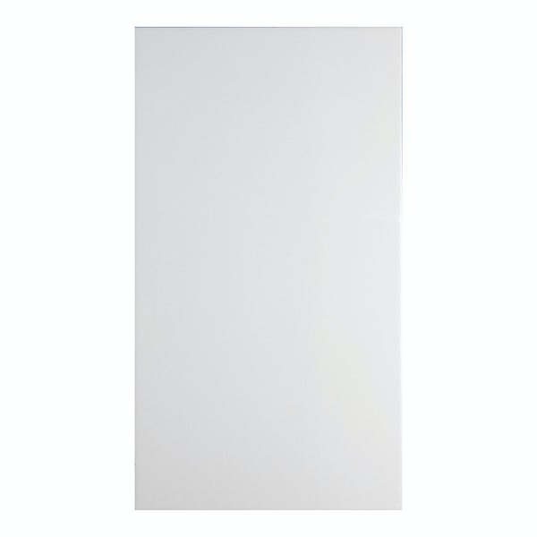 Clarity plain flat gloss white wall tile 300mm x 600mm