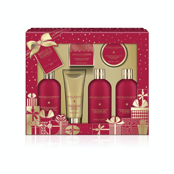 Baylis & Harding Midnight fig and pomegranate tray set