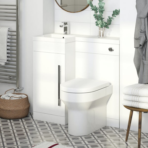 Orchard Myspace White Left Handed Unit With Contemporary