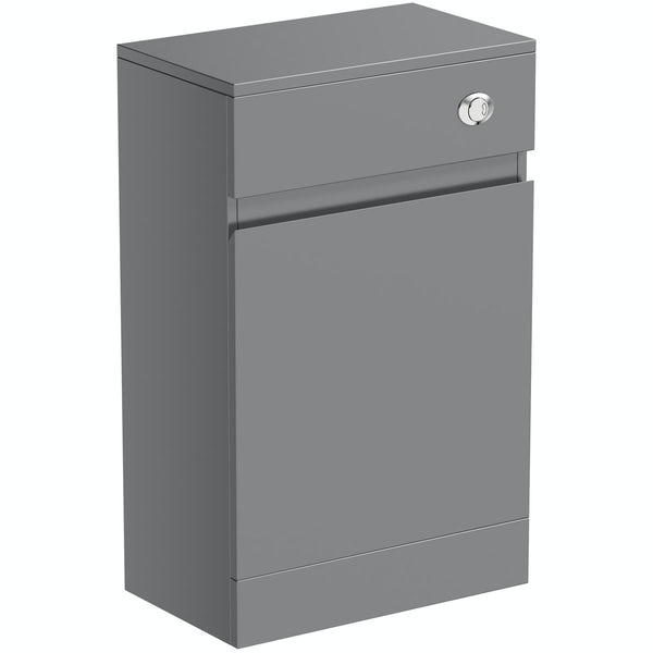 Mode Hardy slate matt grey back to wall toilet unit 500mm