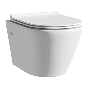 Mode Harrison rimless wall hung toilet inc slimline soft close seat