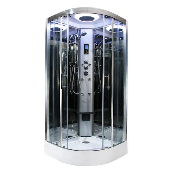 Insignia Premium quadrant hydro-massage shower cabin with clear glass