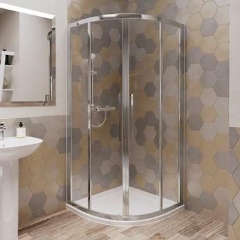 Ideal Standard 6mm sliding Idealclean quadrant shower enclosure