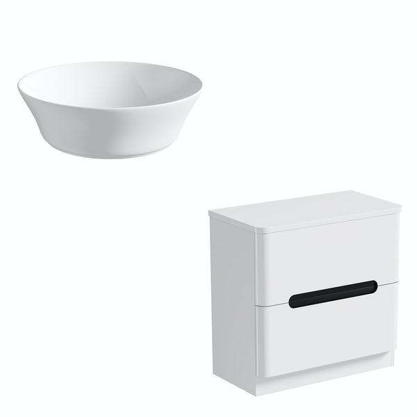 Mode Ellis essen countertop drawer unit 800mm with Bowery basin