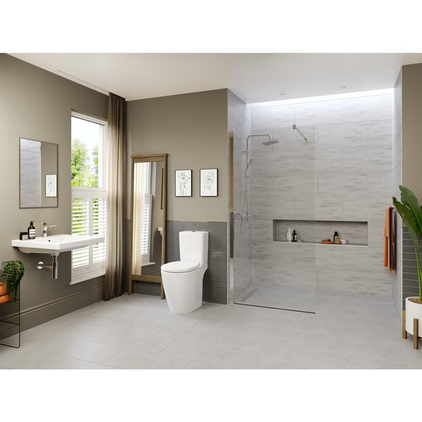 Ideal Standard Concept Freedom complete wet room suite 1000mm with close coupled toilet