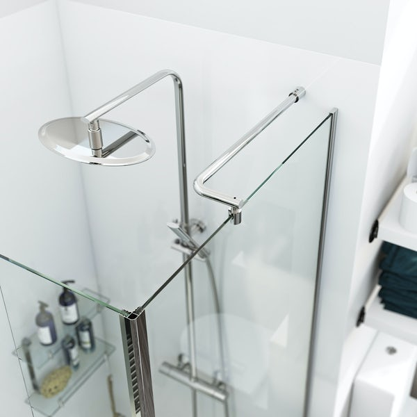 Orchard 6mm wet room glass panel pack