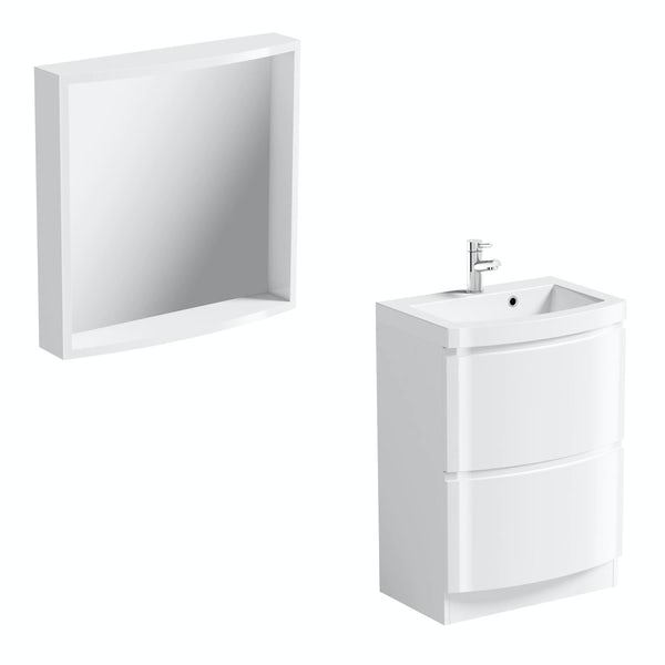 Harrison white vanity unit and mirror offer