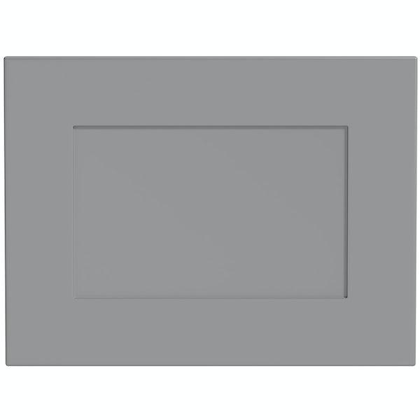 Schön New England light grey 600mm integrated extractor door