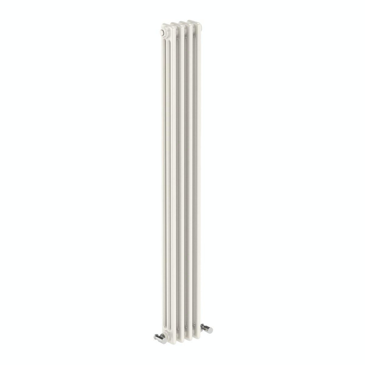 The Bath Co. Dulwich vertical white triple column radiator 1500 x 200