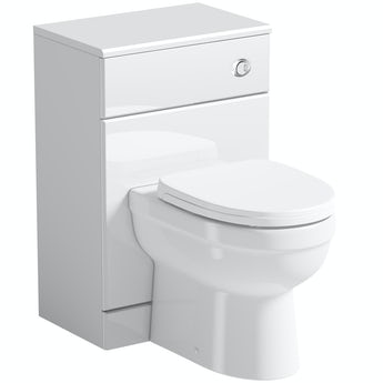 Orchard Eden white back to wall unit and toilet with seat