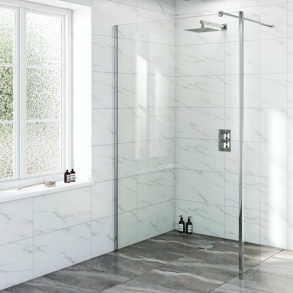 Mode Renzo square slim stainless steel shower head 250mm