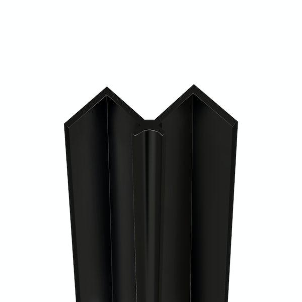 Showerwall Black Silk internal corner profile for waterproof wall panels