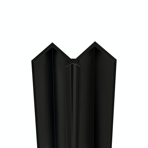 Showerwall Black Silk internal corner profile for waterproof wall panels