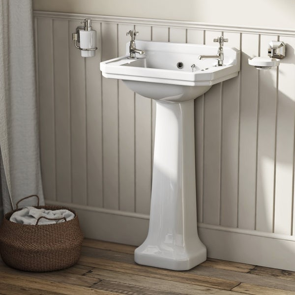 Camberley white bathroom suite with straight bath 1700 x 700