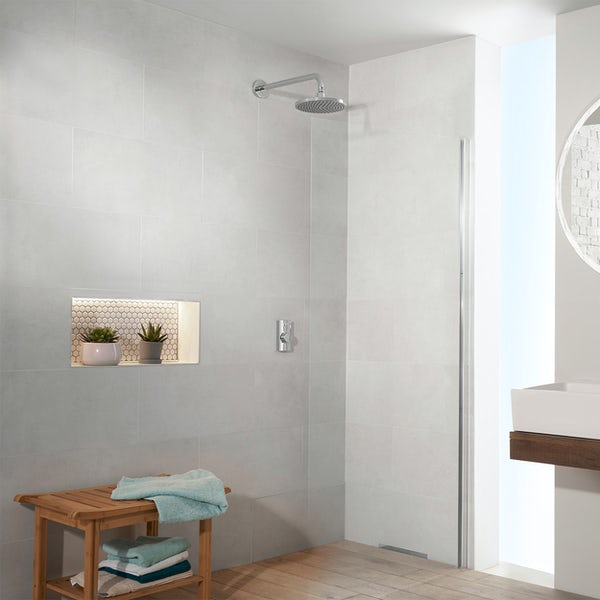 Aqualisa Visage Q Smart concealed shower standard with wall head