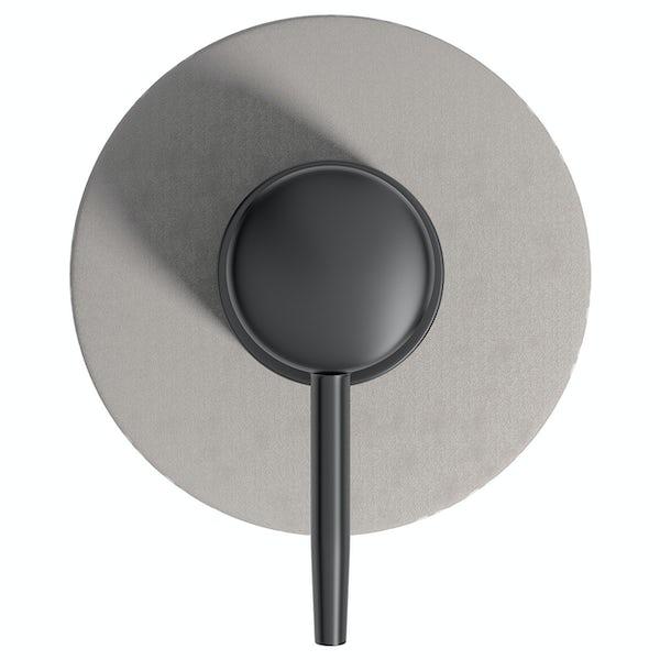 Accents ceramic grey patterned soap dispenser