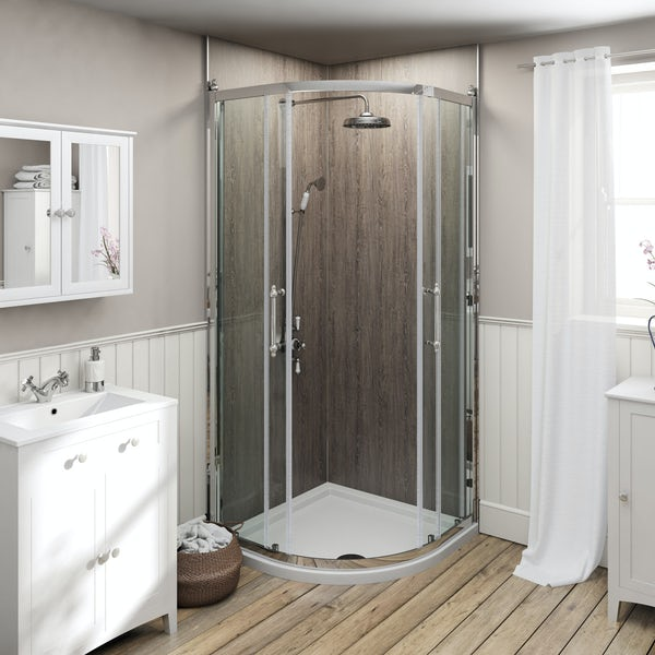 The Bath Co. Camberley 8mm traditional framed quadrant enclosure