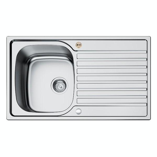 Bristan Inox easyfit universal sink 1.0 bowl stainless steel