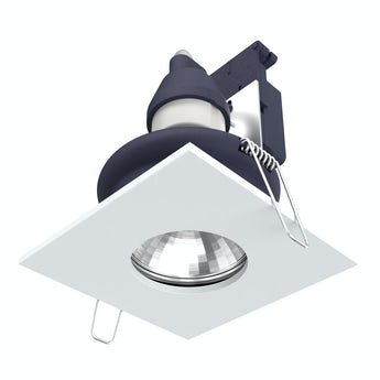 Forum IP65 square downlight in white