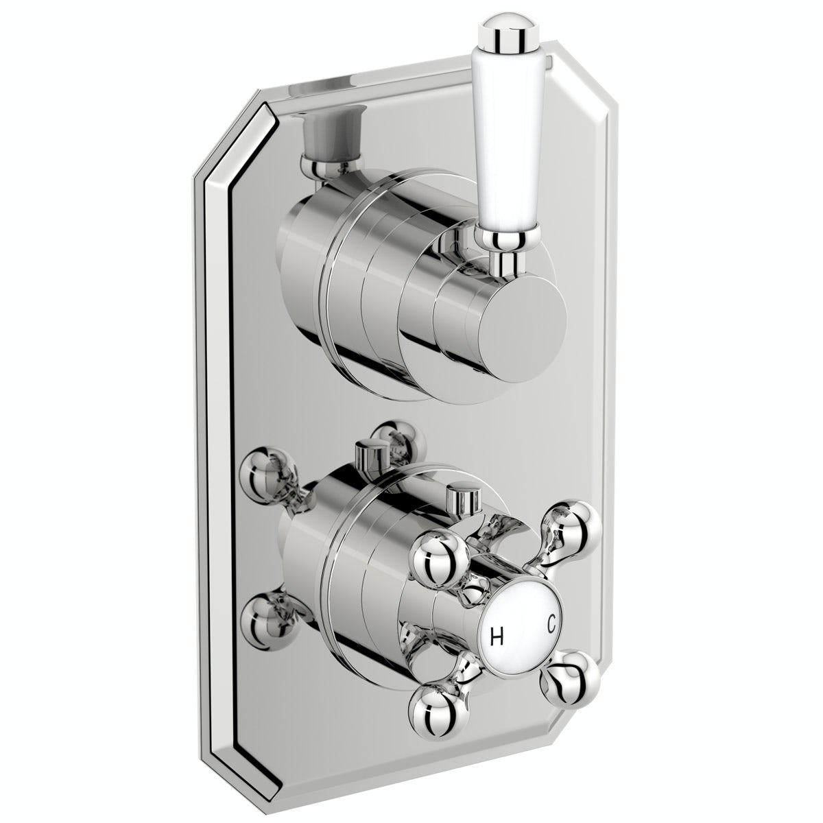 The Bath Co. Camberley twin thermostatic  shower valve