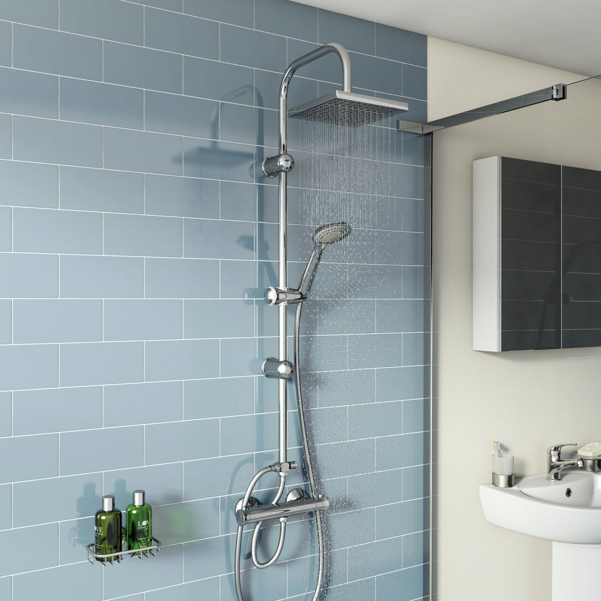 Clarity thermostatic shower valve with riser rail kit | VictoriaPlum.com