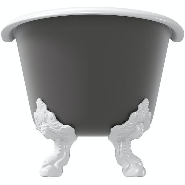 Belle de Louvain Dover keystone grey cast iron bath
