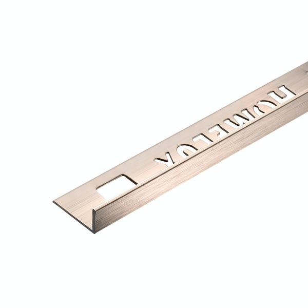 Homelux aluminium champagne tile trim 10mm