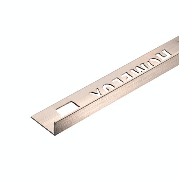 Homelux aluminium champagne tile trim 10mm