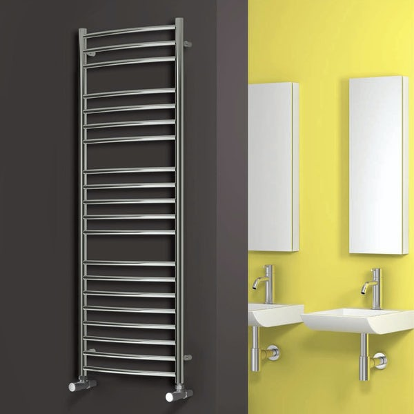 Reina Eos stainless steel designer towel rail