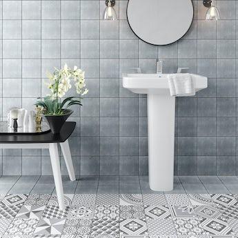 Ted Baker VersaTile light grey wall and floor tile 148mm x 148mm