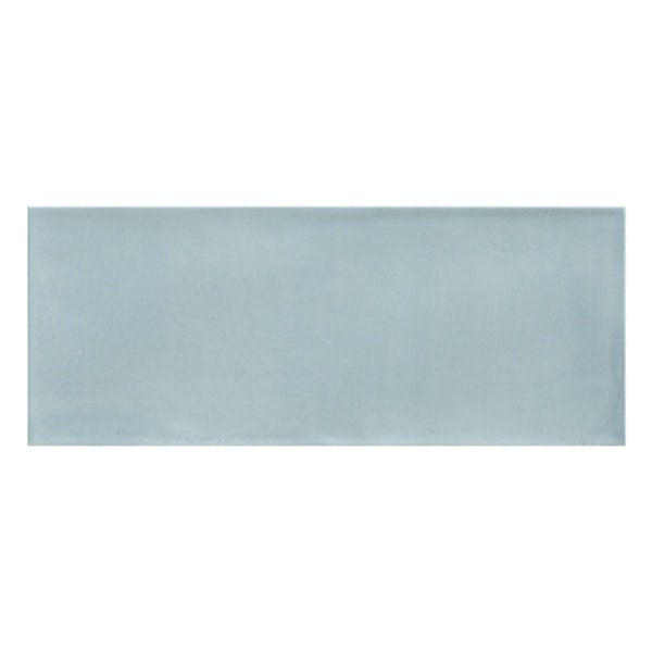 Chateau blue bumpy matt wall tile 200mm x 500mm