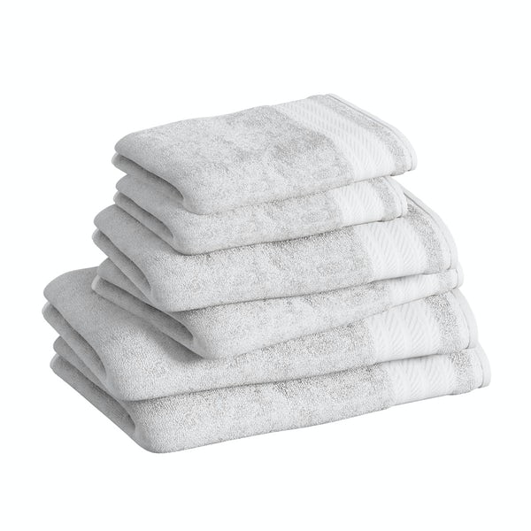 Accents snow white 6 piece towel bale