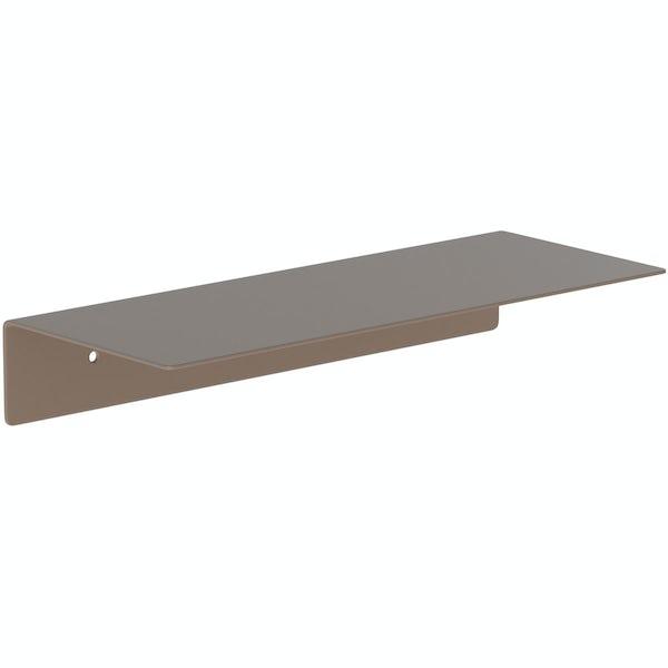 Accents Mono taupe 300mm bathroom shelf