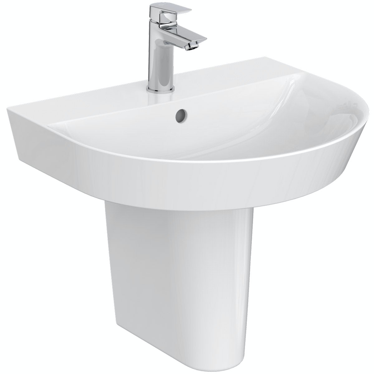 Ideal Standard Concept Air Arc 1 tap hole semi pedestal basin 550mm