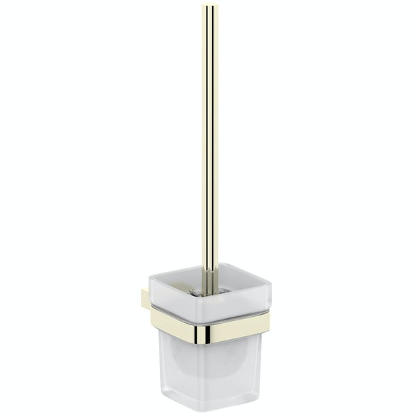 Mode Spencer gold toilet brush and holder