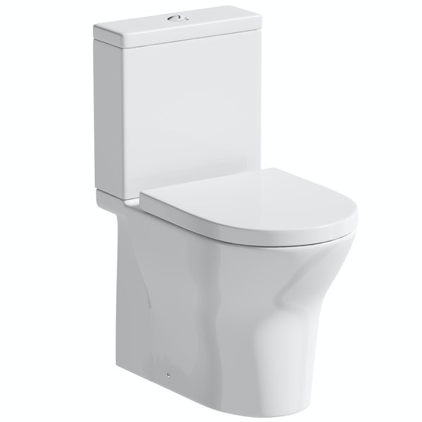 Orchard Derwent round rimless close coupled toilet with soft close seat