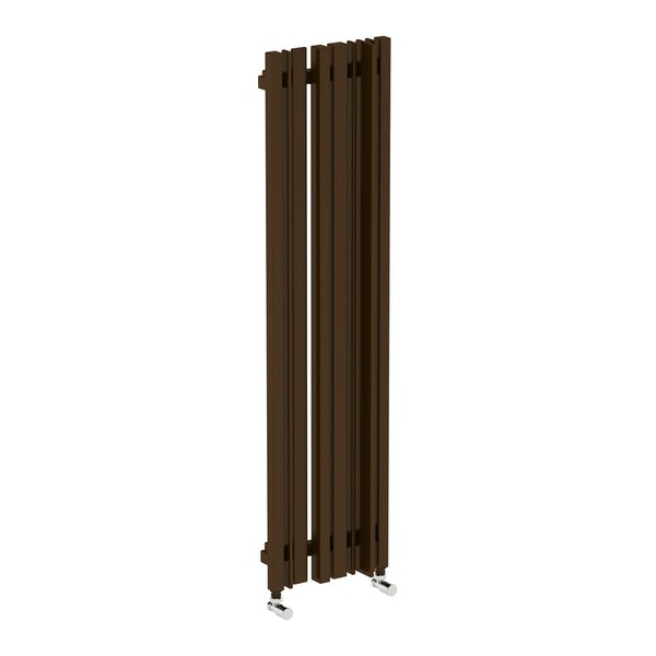 Sherwood terra brown vertical radiator 1300 x 330