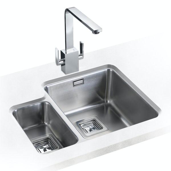 Rangemaster Quad 1.5 bowl undermount left handed kitchen sink
