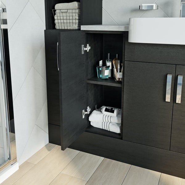 Reeves Nouvel quadro black storage unit 720 x 300mm