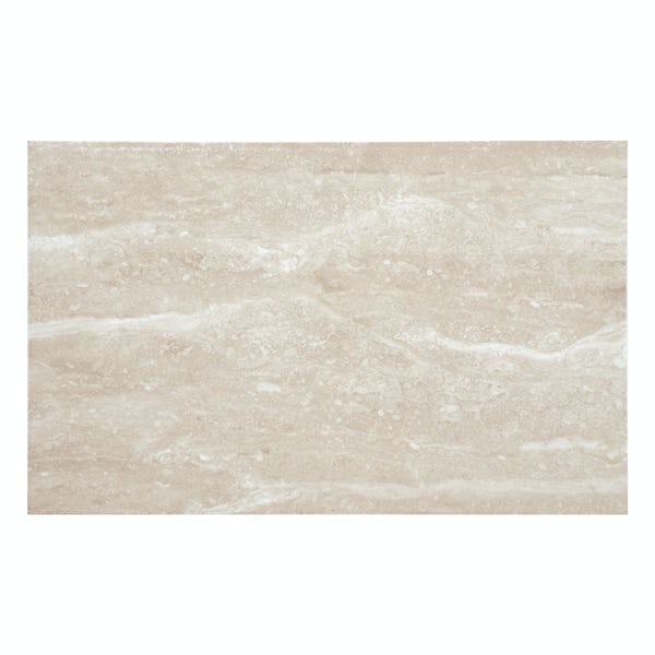 British Ceramic Tile Earth travertine gloss wall tile 248mm x 398mm