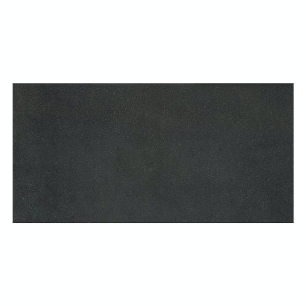 Faro black stone effect flat matt wall and floor tile 300mm x 600mm