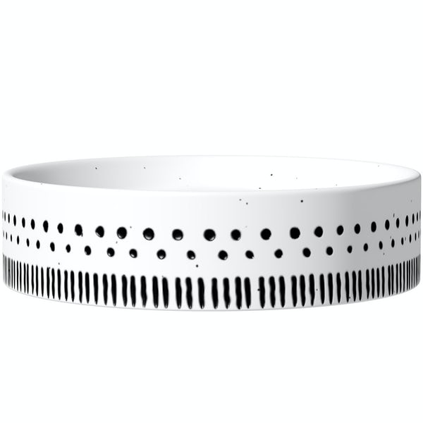 Accents ceramic white patterned soap dish