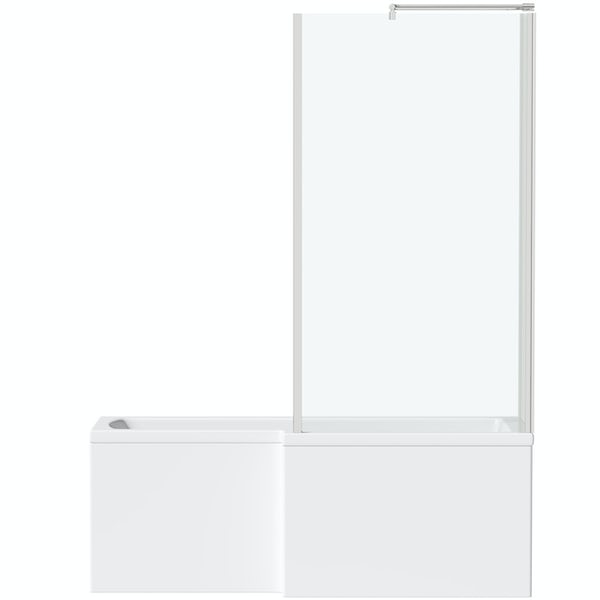 Orchard L shaped right handed shower bath 1500mm with 6mm shower screen