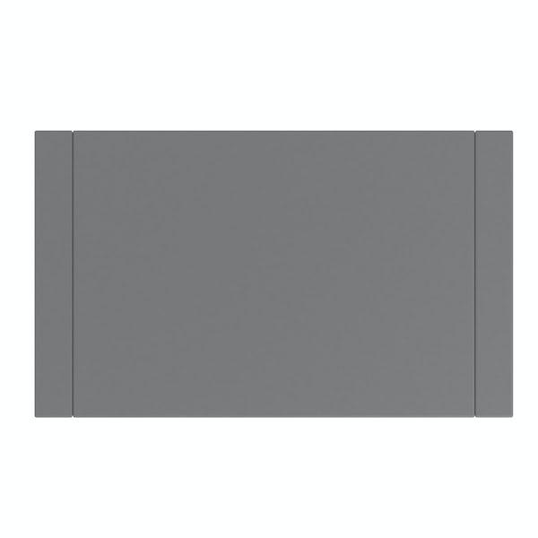 Accents Slimline slate matt wall hung open storage unit 400 x 200mm